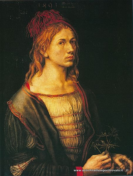 A portrait of a young Albrecht Durer (1471/1528), one of the undisputed masters of the woodcut
