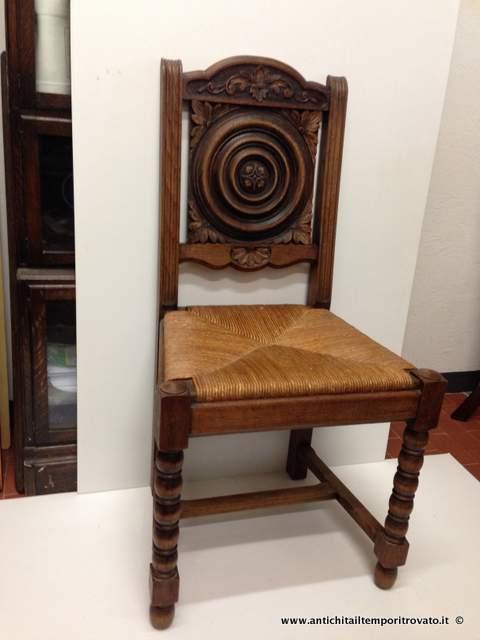 Antichit il tempo ritrovato antiquariato e restauro mobili antichi sedie gruppo 6 sedie - Mobili antichi francesi ...