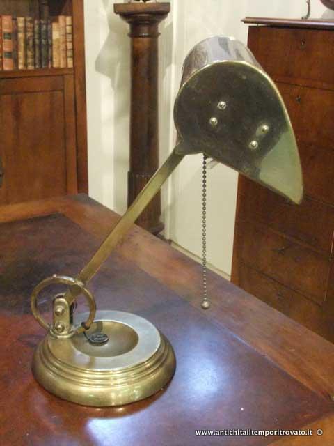 Antichit il tempo ritrovato antiquariato e restauro oggettistica d epoca lampadari e - Ebay lampade da tavolo antiche ...