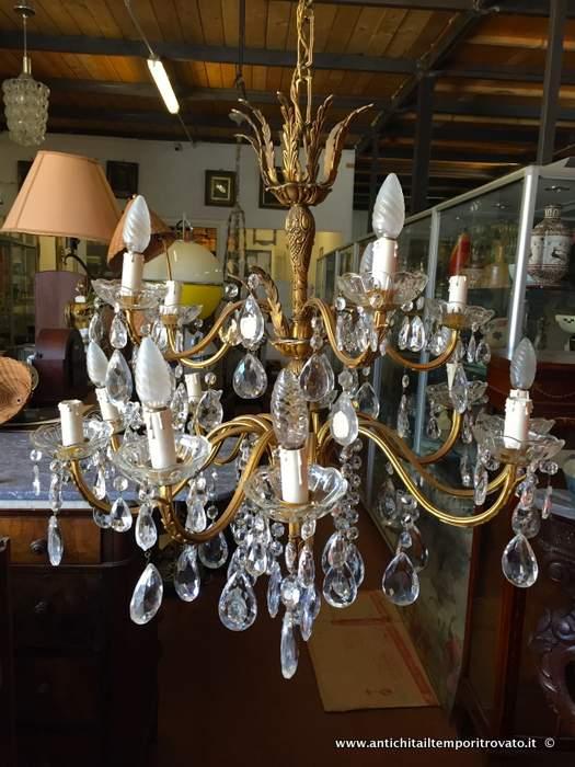 lampadari d epoca : Oggettistica d`epoca - Lampadari e lampadeAntico lampadario a gocce ...