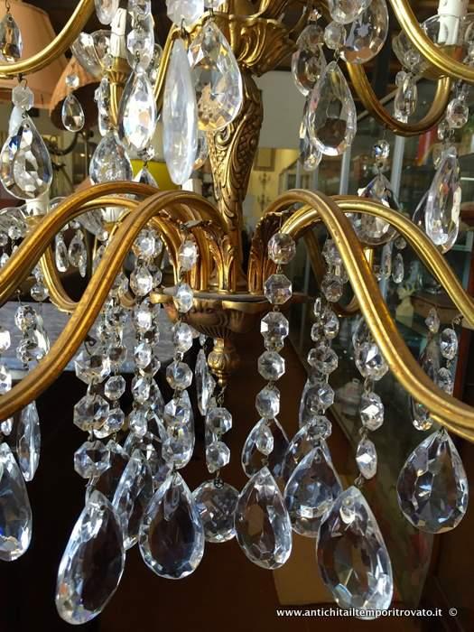 lampadari d epoca : Oggettistica d`epoca - Lampadari e lampade - Antico lampadario a gocce ...