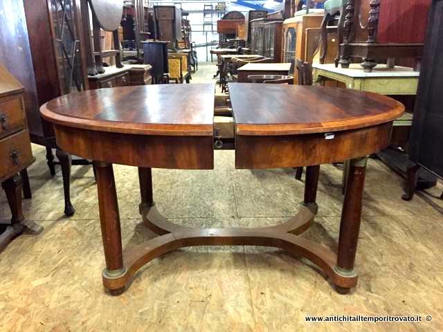 Tavolo Antico Allungabile Antiquariato.Antichita Il Tempo Ritrovato Antiquariato E Restauro Mobili
