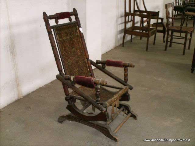 Costo Sedia A Dondolo.Antichita Il Tempo Ritrovato Antiquariato E Restauro Mobili
