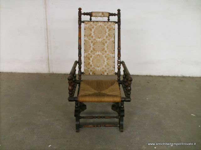 Sedia A Dondolo In Inglese.Antichita Il Tempo Ritrovato Antiquariato E Restauro