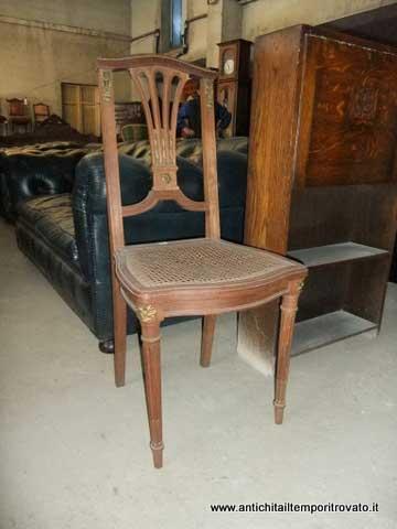 ... Antiquariato e restauro - Mobili antichi-Sedie-Antica sedia francese
