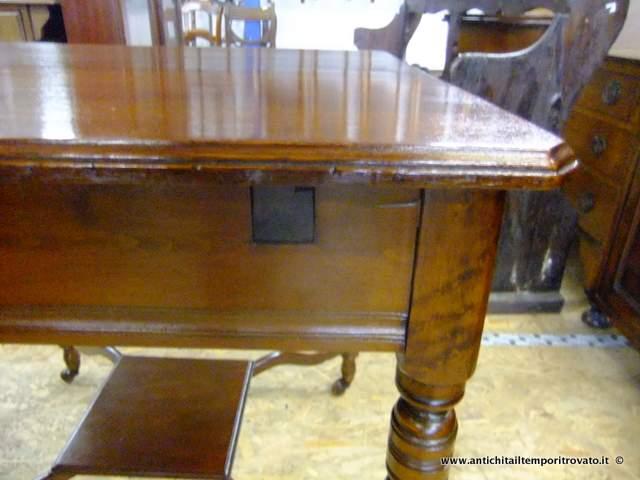 Antichit il tempo ritrovato antiquariato e restauro mobili antichi tavoli allungabili - Tavoli da pranzo antichi ...