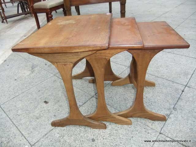 Antichit il tempo ritrovato antiquariato e restauro for Tavolini anni 50