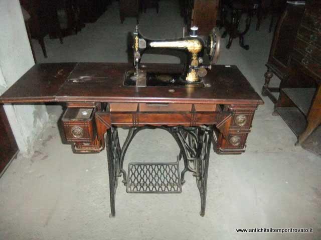 Antichit il tempo ritrovato antiquariato e restauro - Mobili per macchine da cucire ...