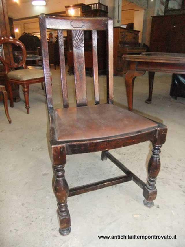 Antichit il tempo ritrovato antiquariato e restauro mobili antichi sedie gruppo di quattro - Deco mobili tavoli e sedie ...