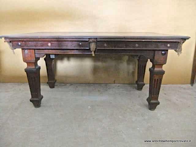 Antichit il tempo ritrovato antiquariato e restauro mobili antichi tavoli da gioco antico for Tavolo da biliardo trasformabile in tavolo da pranzo