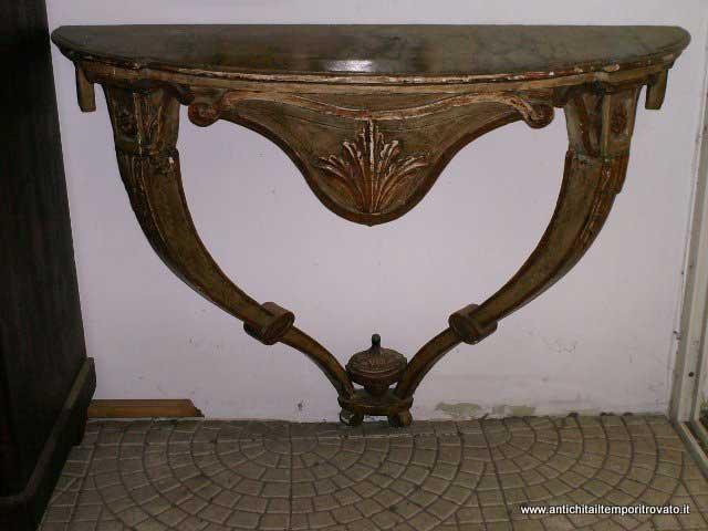 Mobili antichi - Consolle antiche - Consolle d`epoca 700 laccata beige ...