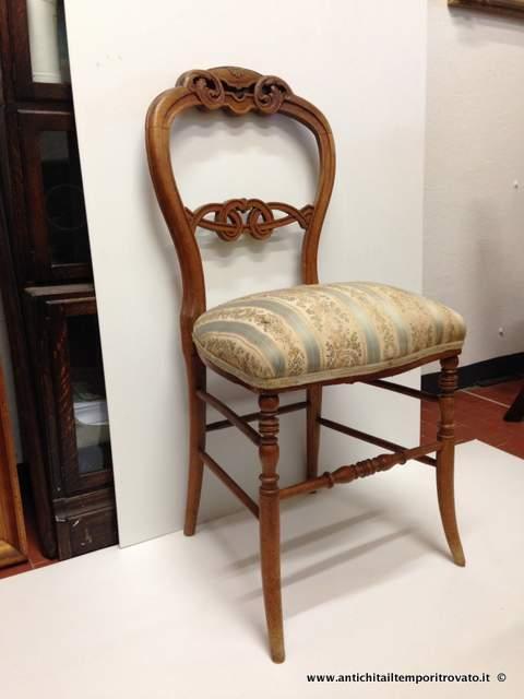 Antichit il tempo ritrovato antiquariato e restauro mobili antichi sedie lotto quattro - Mobili antichi francesi ...