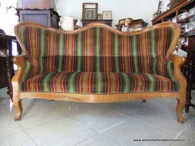 Antichit il tempo ritrovato antiquariato e restauro mobili antichi divani divano francese - Divano in francese ...