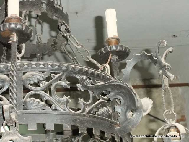 Lampadario Antico Ferro Battuto : Antichità il tempo ritrovato antiquariato e restauro sardegna