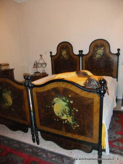 Letto Matrimoniale Antico.Antichita Il Tempo Ritrovato Antiquariato E Restauro Mobili
