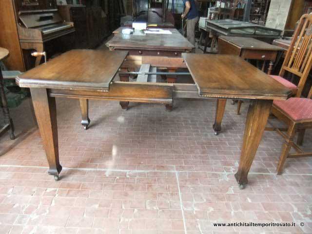Antichit il tempo ritrovato antiquariato e restauro mobili antichi tavoli allungabili - Deco mobili tavoli e sedie ...