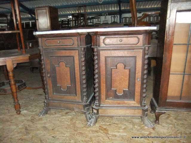 Antichit il tempo ritrovato antiquariato e restauro mobili antichi comodini antica coppia - Restauro mobili impiallacciati ...