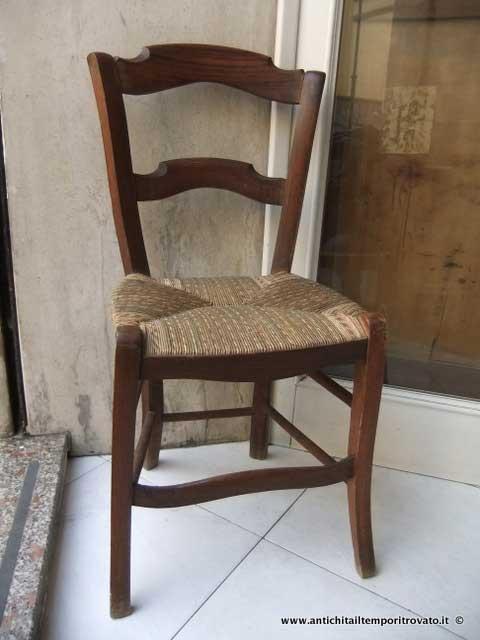 Sedie Rustiche Antiche.Antichita Il Tempo Ritrovato Antiquariato E Restauro