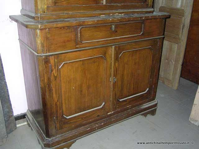 Credenza Vetrina Rustica : Antichità il tempo ritrovato antiquariato e restauro vetrina