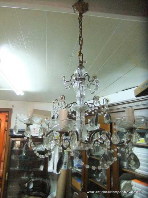 lampadari d epoca : Oggettistica d`epoca - Lampadari e lampade - Antico lampadario gocce ...