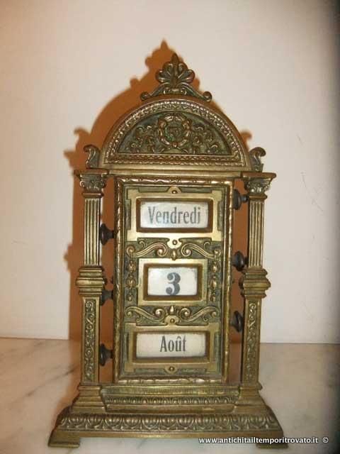 Calendario Antico.Antichita Il Tempo Ritrovato Antiquariato E Restauro