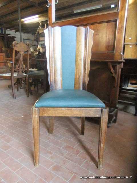 Antichit il tempo ritrovato antiquariato e restauro mobili antichi sedie sei sedie francesi - Deco mobili tavoli e sedie ...