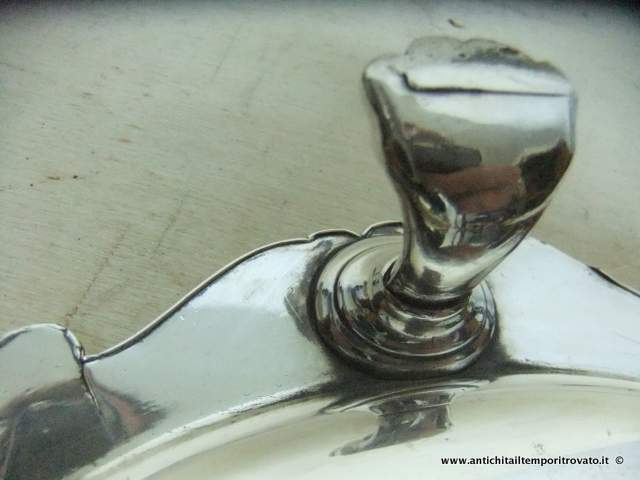 Sheffield d`epoca - Sheffield e Silver plate - Vassoio in Old Sheffield - Immagine n°5