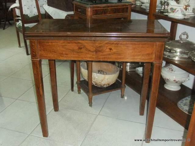 Tavolino Da Gioco Antico.Antichita Il Tempo Ritrovato Antiquariato E Restauro