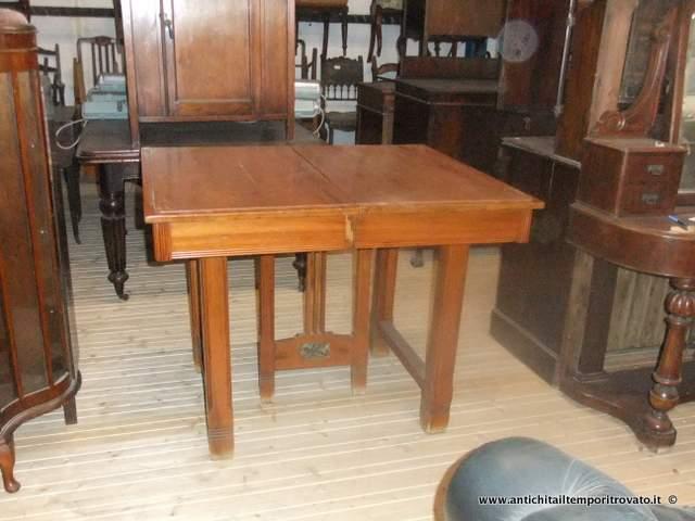 Tavolo Quadrato Antico Allungabile.Antichita Il Tempo Ritrovato Antiquariato E Restauro Mobili