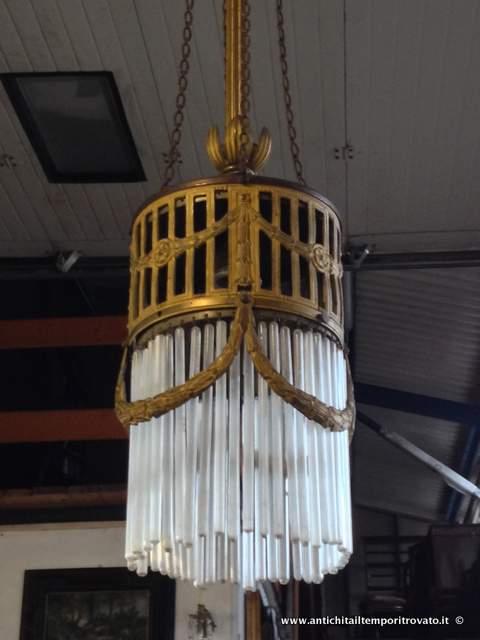 lampadari d epoca : Oggettistica d`epoca - Lampadari e lampadeAntico lampadario liberty ...