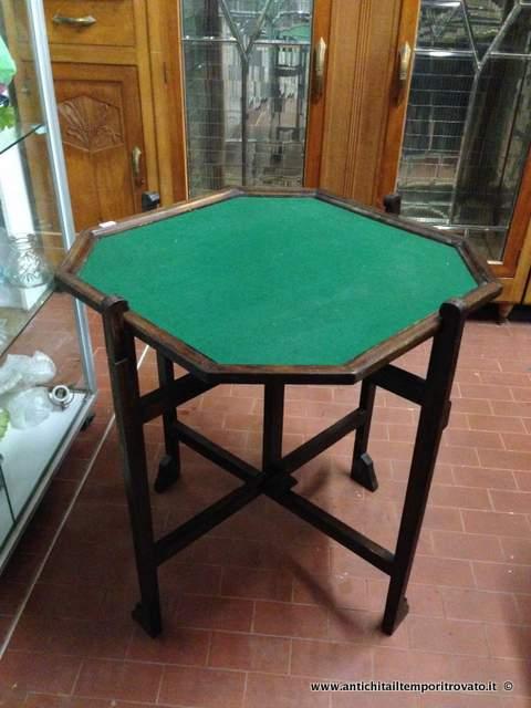 Antichit il tempo ritrovato antiquariato e restauro mobili antichi tavoli e tavolini - Tavoli da gioco carte pieghevoli ...