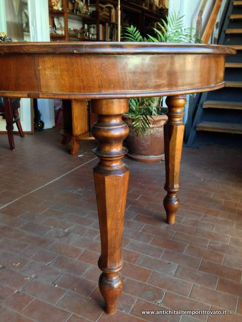 Antichita Il Tempo Ritrovato Antiquariato E Restauro Mobili Antichi Tavoli Allungabili Antico Tavolo Italiano In Noce Allungabile