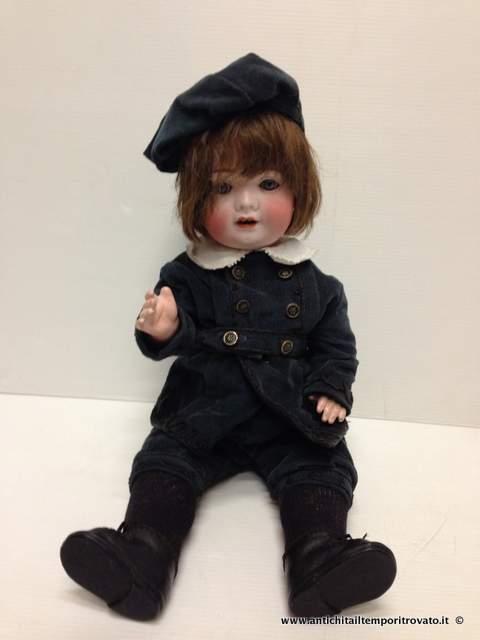 Giocattoli antichi - BamboleAntica bambola in biscuit - Bambola d ...