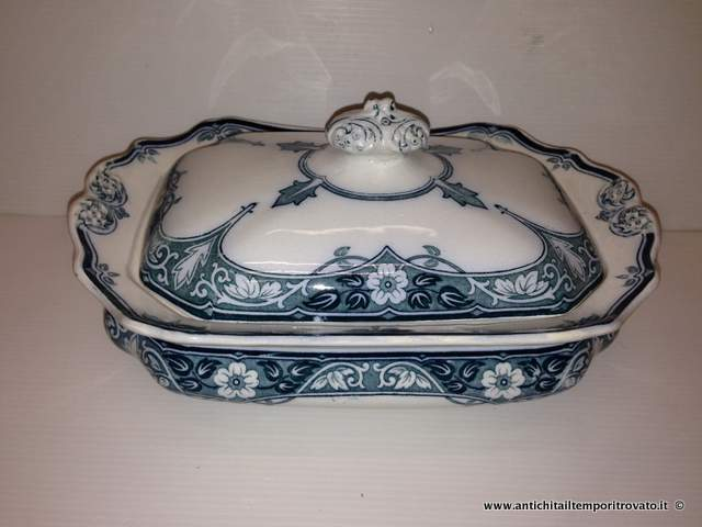 Antica zuppiera transferware - Zuppiera inglese liberty