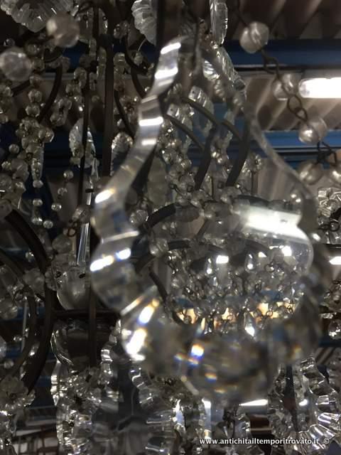 ... lampadario in cristallo - Lampadario con catenelle in