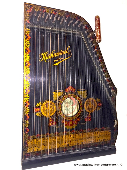 Antica cetra Guitar Zither - Zither liberty decorato