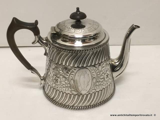 Sheffield d`epoca - Set in sheffield  - Set in silver plate dell`800 Antico set da 4 pezzi - Immagine n°3