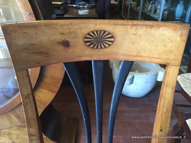 Antichit il tempo ritrovato antiquariato e restauro mobili antichi sedie antica coppia di - Mobili biedermeier ...
