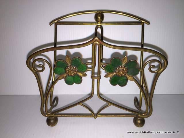 Brando set di accessori da scrivania in cuoio colore testa di