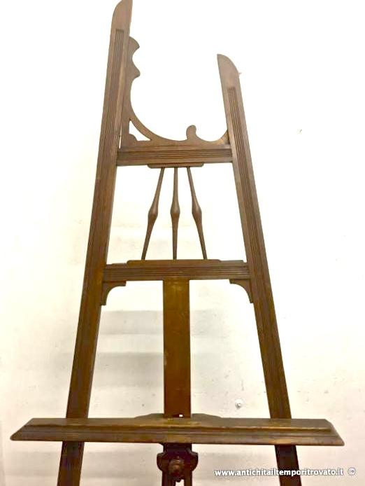 Antichit il tempo ritrovato antiquariato e restauro mobili antichi mobili vari antico - Cavalletto da pittore da tavolo ...