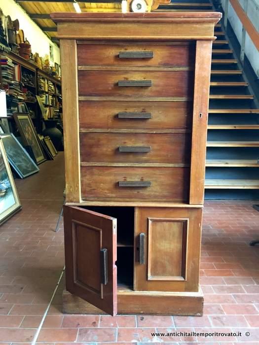 Mobile Schedario Ufficio.Antichita Il Tempo Ritrovato Antiquariato E Restauro