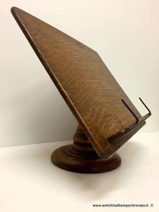 Antichit il tempo ritrovato antiquariato e restauro oggettistica d epoca oggetti in legno - Leggio per libri da tavolo ...