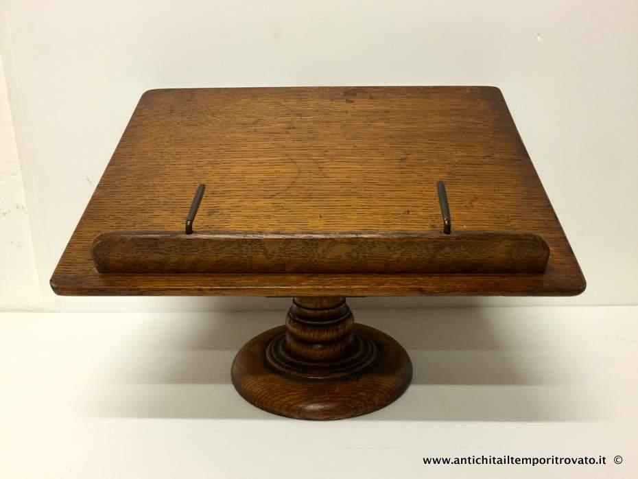 Antichit il tempo ritrovato antiquariato e restauro - Costruire un leggio da tavolo ...