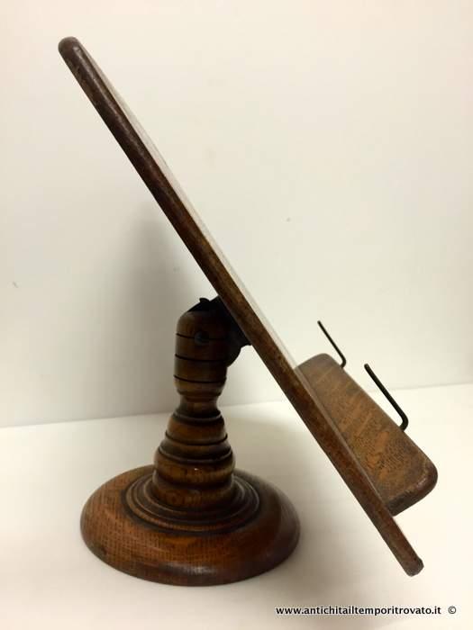 Antichit il tempo ritrovato antiquariato e restauro oggettistica d epoca oggetti in legno - Dove comprare un leggio da tavolo ...
