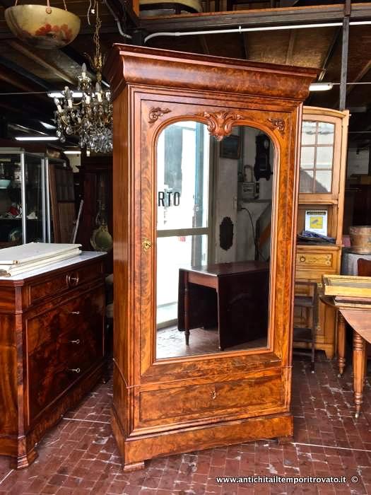 Antichit il tempo ritrovato antiquariato e restauro mobili antichi armadi armadio francese - Specchio in francese ...