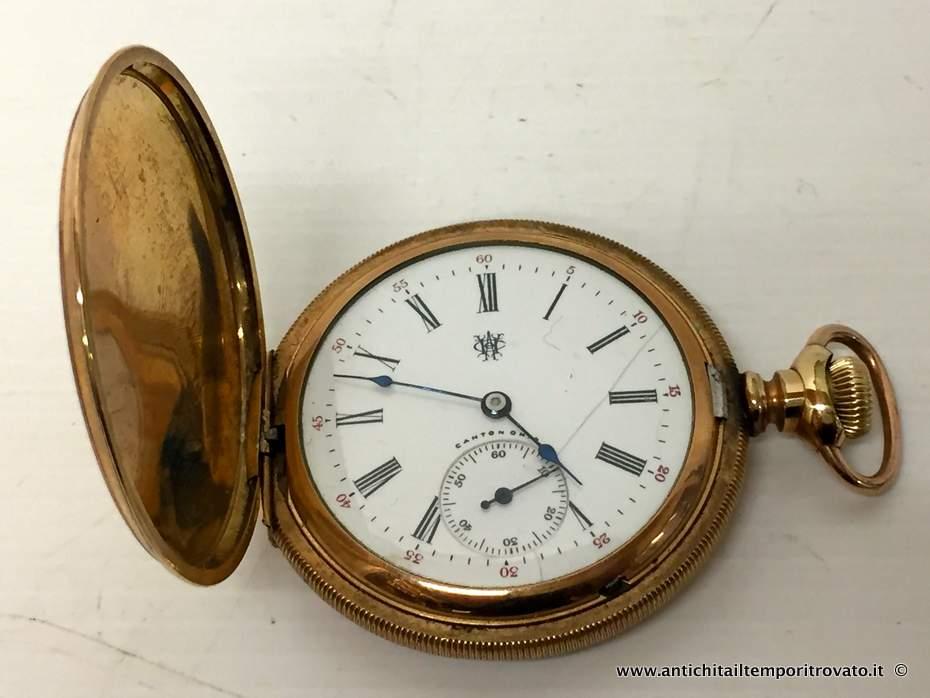 3d1aac69afb060 Oggettistica d`epoca - Orologi e portaorologi Antico orologio da tasca  Hampden Dueber - Oroilogio
