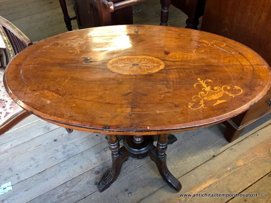 Tavolino Rotondo Da Salotto Antico.Antichita Il Tempo Ritrovato Antiquariato E Restauro Mobili