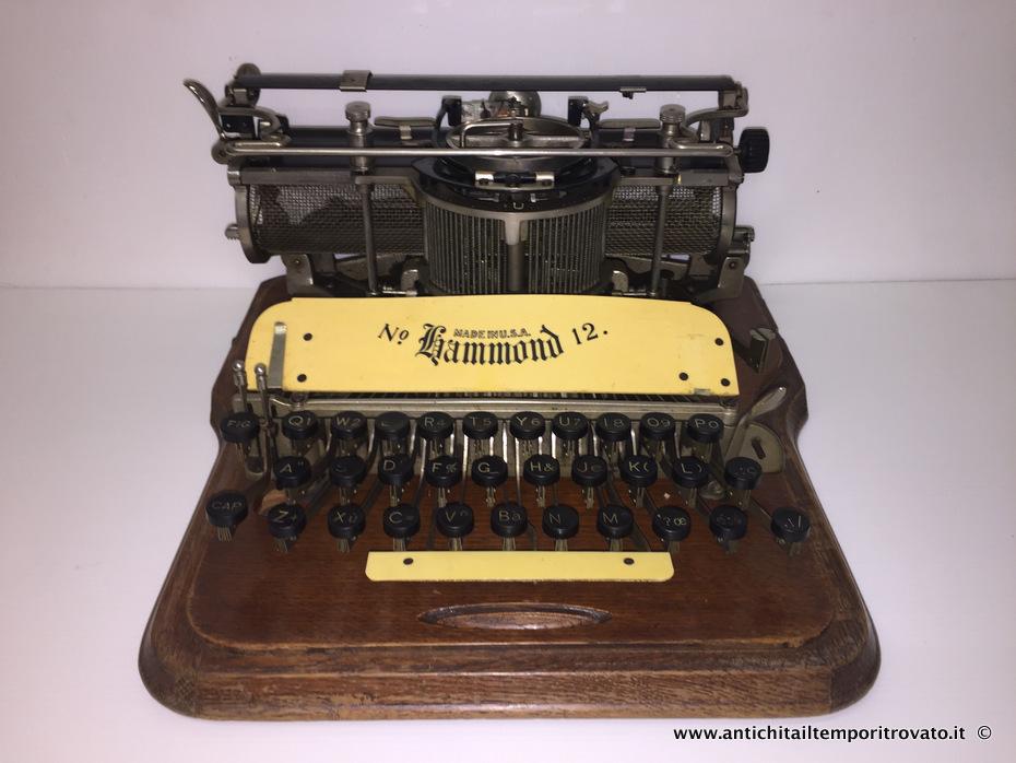 Oggettistica d`epoca → Bronzo ottone ferro → Antica Hammond n12  Antica macchina da scrivere americana: la Hammond n°12 fu introdotta nel 1905 sostituendo il modello n°2 e prende il nome dal suo progettista, il giornalista americano James Bartlett Hammond…  ... continua ...