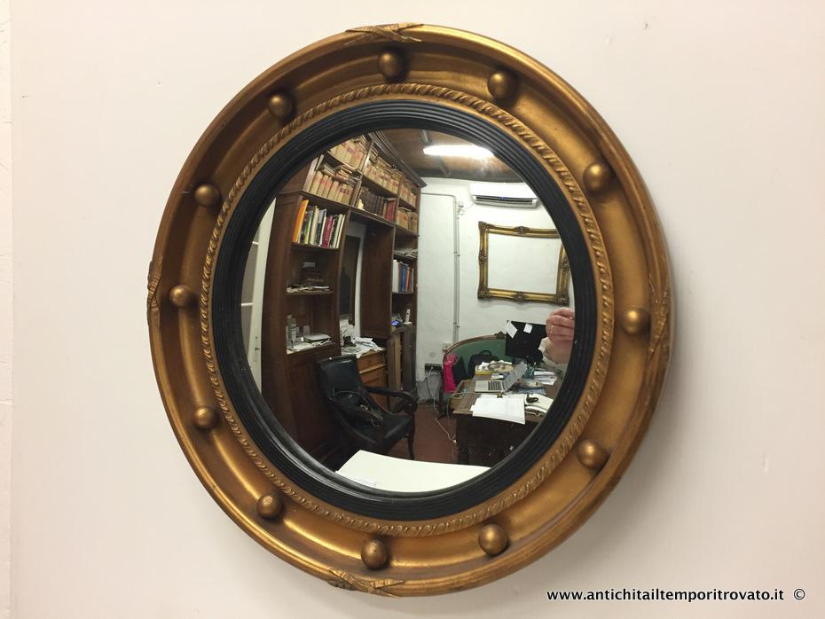 Antichit il tempo ritrovato antiquariato e restauro - Specchio con cornice dorata ...