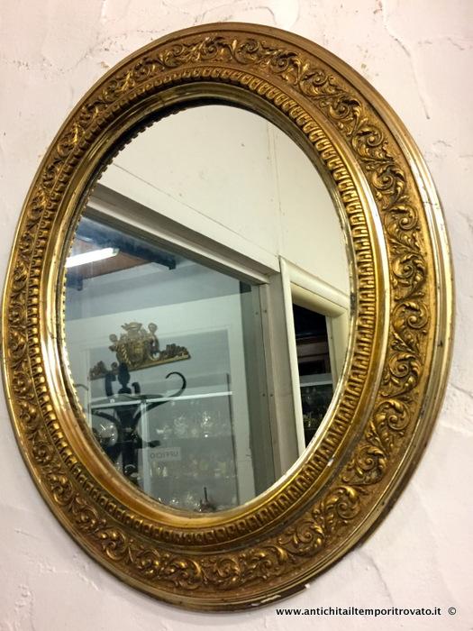 Antichit il tempo ritrovato antiquariato e restauro - Specchio dorato antico ...
